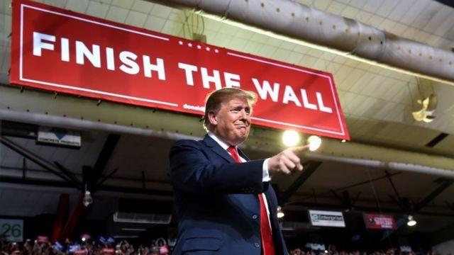 US President Donald Trump speaks in El Paso, Texas. Photo: 11 February 2019