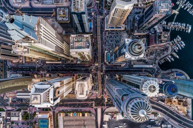 The high-rise buildings of Dubai