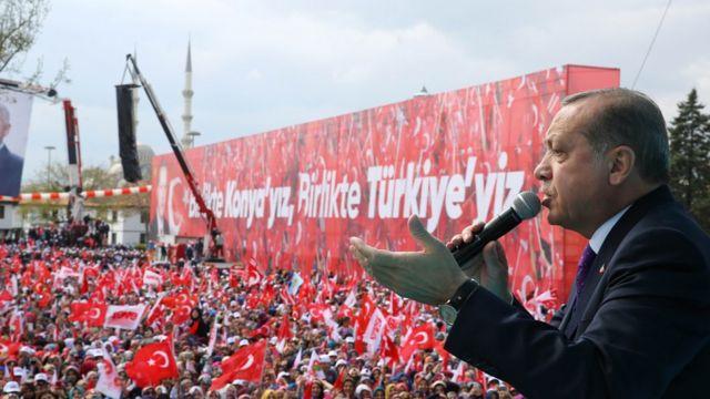 Erdoğan'ın Konya mitingi