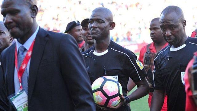 Ghanaian referee Joseph Lamptey