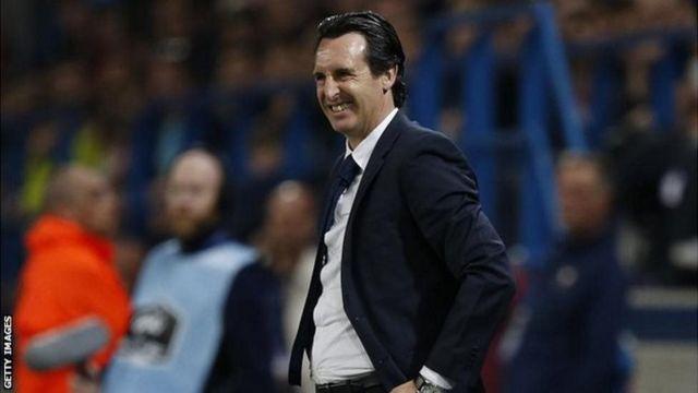 Unai Emery yahora ari umumenyereza wa Paris St Germain (PSG) yashikanye ku ntsinzi y'igikombe ca Ligue 1