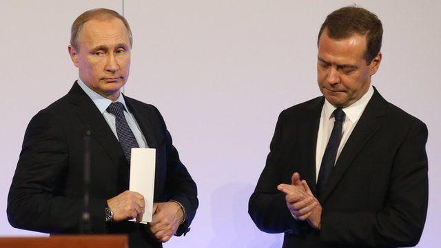Putin e Dmitry Medvedev