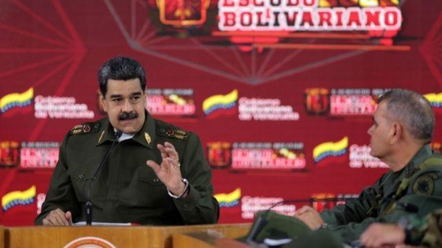 Nicolás Maduro y el ministro de Defensa, Vladimir Padrino.
