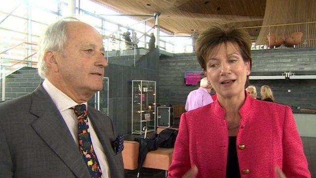 Neil Hamilton and Diane James