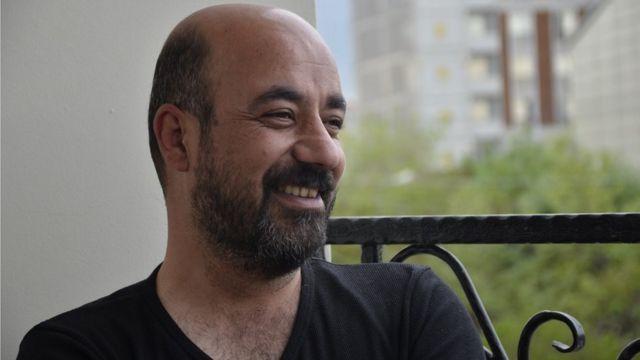 Van'da tiyatro alanında çalışmalar yürüten Fatih Taşdemir.