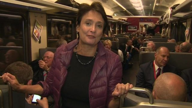 Imogen Foulkes on the train in Gotthard tunnel