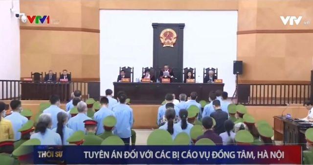 Bản tin về phiên tòa Đồng Tâm của VTV