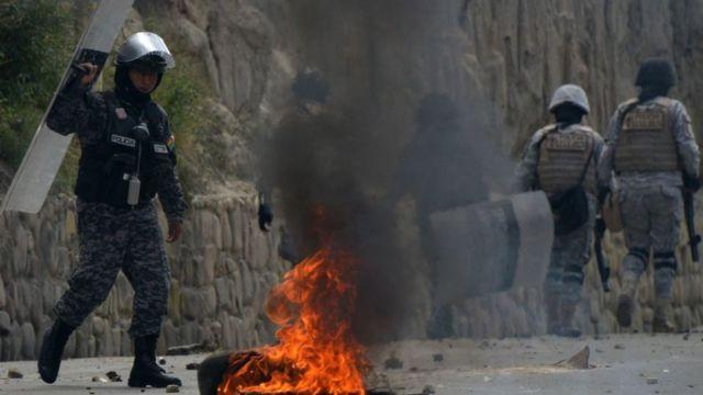 Полиции пришлось применить к фермерам слезоточивый газ