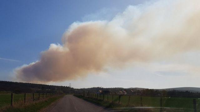 Major wildfire threatens Moray wind farm