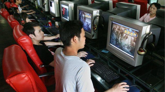 Cibercafé en China
