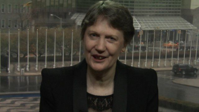 Helen Clark speaking to BBC's Newsnight