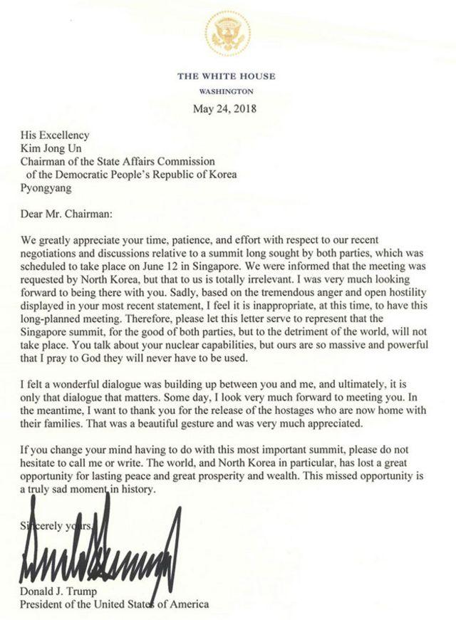 The letter in full