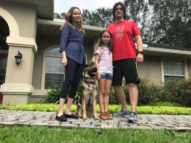 Daniela Seabra e sua família