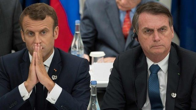 Macron y Bolsonaro
