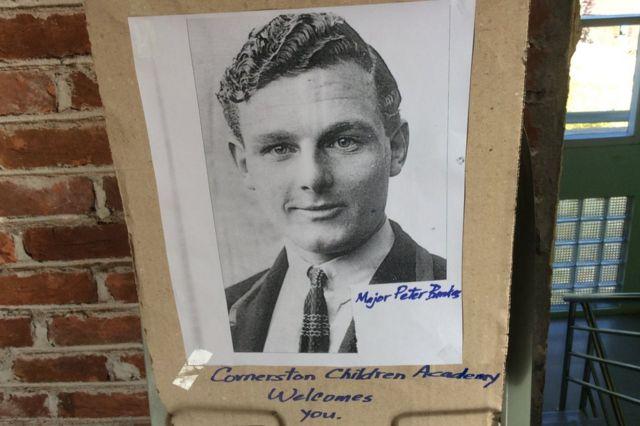 Poster of Capt Bankes at school in Tiddim