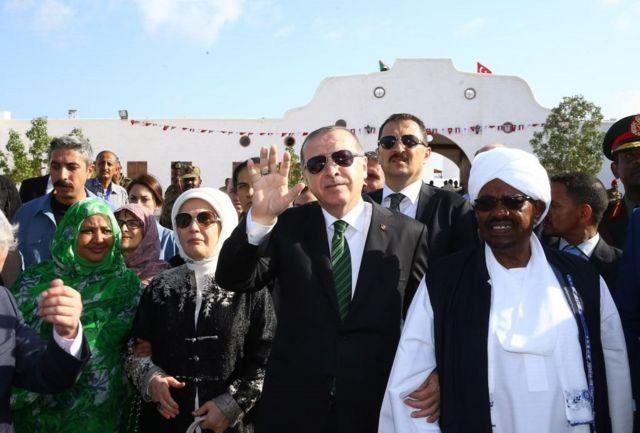 اليوم الثاني لزيارة الرئيس التركي رجب طيب أردوغان وزوجته إلى جزيرة سواكن في السودان، ديسمبر/كانون الأول 2017