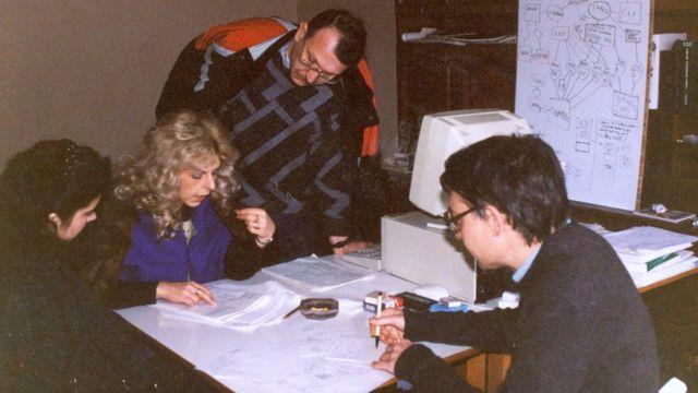 El equipo original en 1990