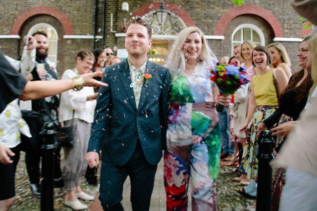 Рири и Луси Дирлав на венчању