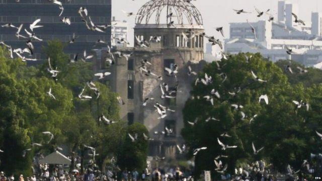 昨年8月6日の広島平和記念式典