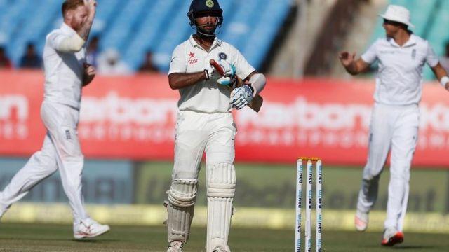 भारत काचौथा विकेट दिन का खेल खत्म होने से केवल 4 गेंद पहले गिरा