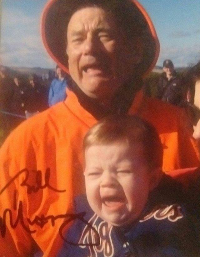 ビル・マーレイのサインが入ったビル・マーレイの写真