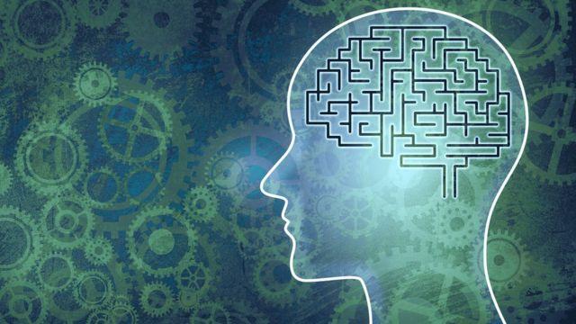 Ilustração de labirinto no cérebro