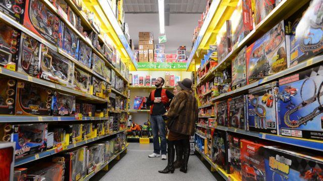 Una tienda de juguetes