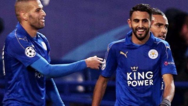 Riyad Mahrez na Islam Slimani bakinye bishimishije muri urwo rukino
