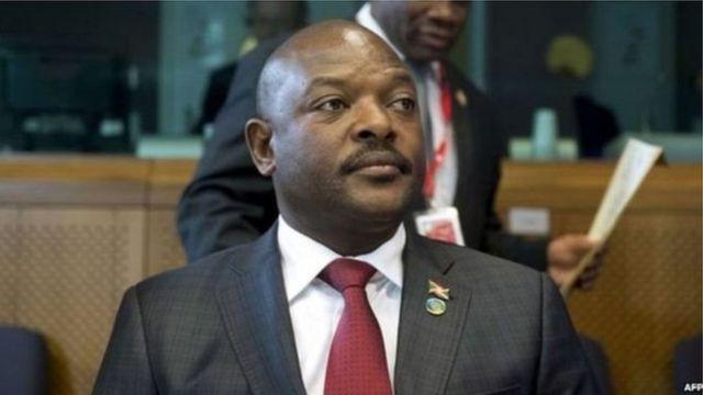 Perezida Pierre Nkurunziza w'u Burundi