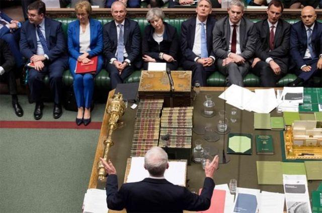 Корбін в парламенті виступає перед урядом Терези Мей