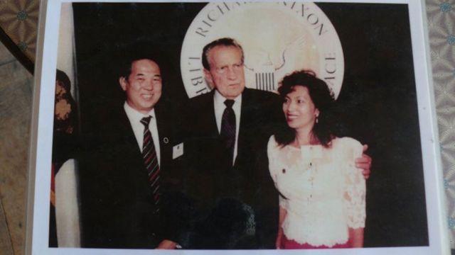 Ted yChristy con el presidente Nixon
