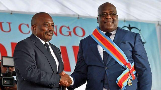 Rais Felix Tshisekedi na Joseph Kabila