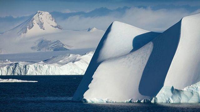 Blocchi di ghiaccio polare