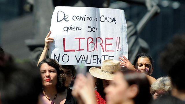 Protesta de mujeres en M'exico
