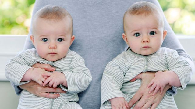 A pair of twin babies.