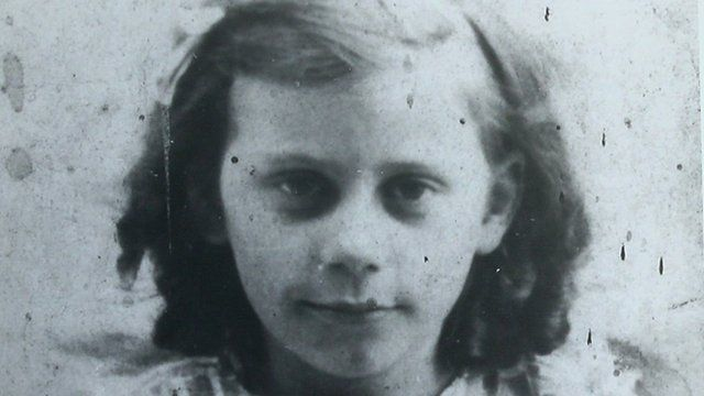 Barbara Mills as a young girl