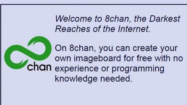 Captura de pantalla de 8chan.