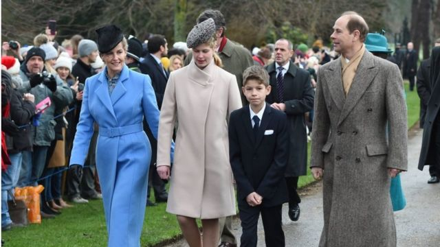 The Countess of Wessex, Lady Louise Windsor, James Viscount Severn and the Earl of Wessex