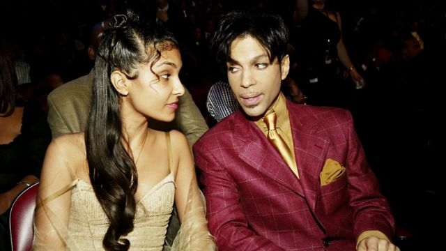 Musician Prince has reportedly Died at 57 on April 21, 2016. HOLLYWOOD, CA - MARCH 6: Singer Prince (R) and his wife Manuela Testolini sit in the audience at the 35th Annual NAACP Image Awards