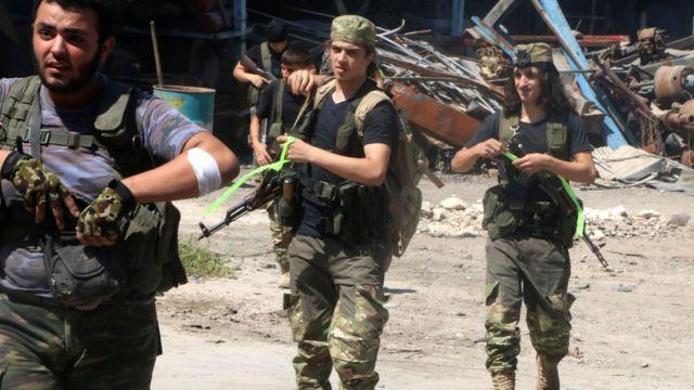 Члены Свободной сирийской армии в Алеппо