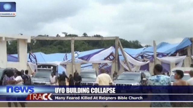 नाइजीरिया में चर्च की छत गिरी