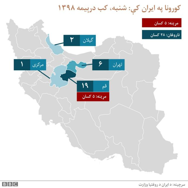ایران کې کورونا شمېرې