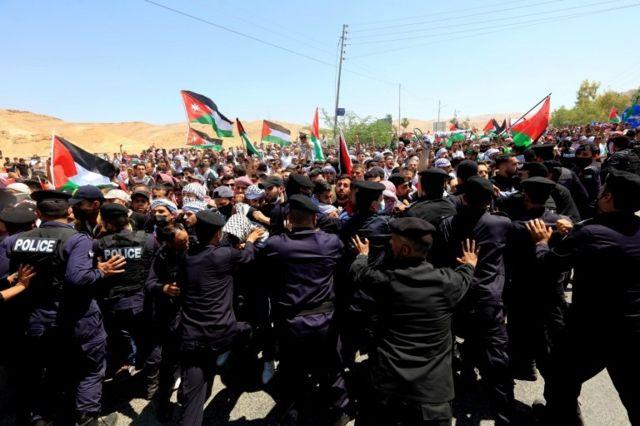 تظاهرات در اردن علیه اسرائیل و آمریکا
