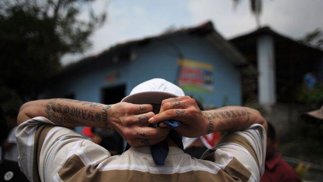 Pandillero en El Salvador