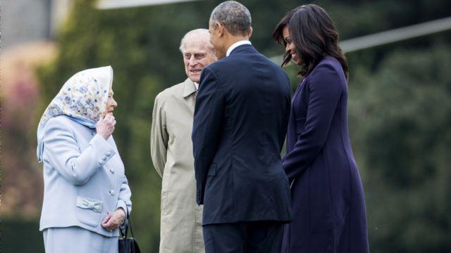 Barack iyo MichelleObama oo 2016-kii dhismaha Windsor hadimo sharafeed loogu sameeyey