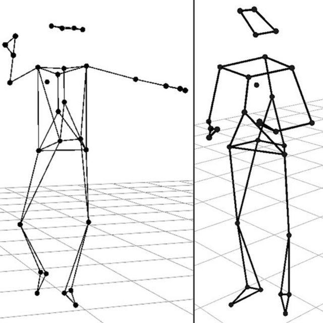 Imágenes de captación de movimiento.