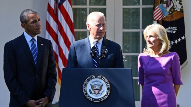 Joe Biden in the Rose Garden