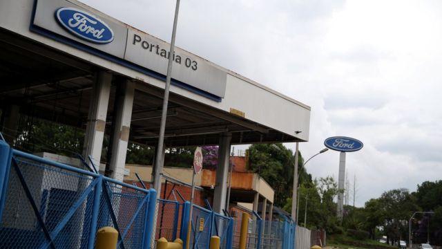 Entrada da Ford em São Bernardo do Campo, SP