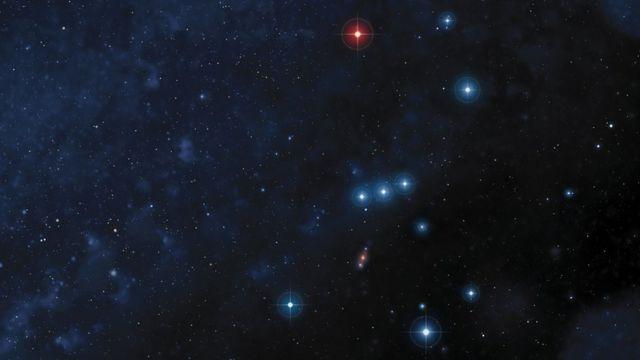 Ilustración de la constelación Orión.