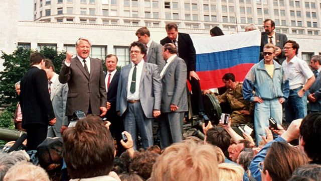 Ельцин на танке 19 августа 1991 года